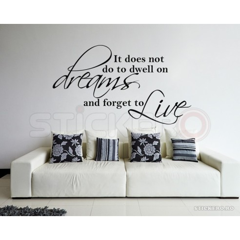 Live in reality - sticker decorativ...