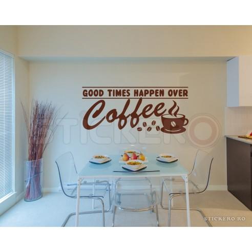 Coffee moments - sticker decorativ mesaj