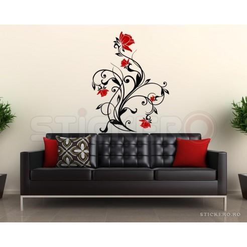 Sticker decorativ Floarea Chic