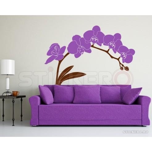 Sticker decorativ Crenguta de Orhidee