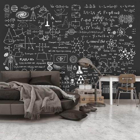 Fototapet  Science on Chalkboard