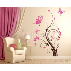 Sticker decorativ Floare...