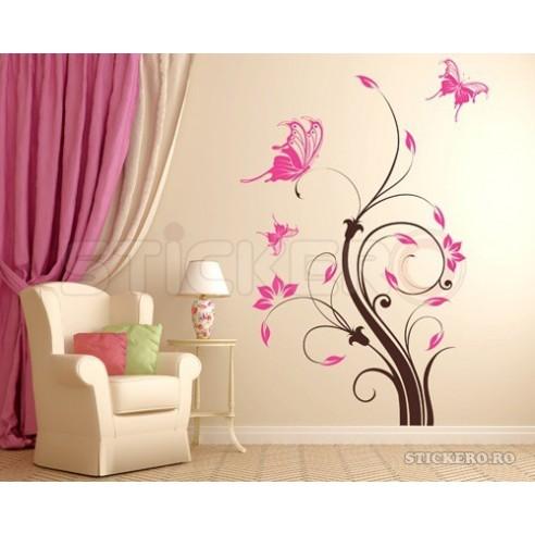 Sticker decorativ Floare eleganta