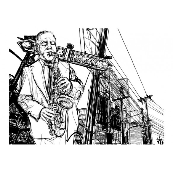 Fototapet  Saxophone recital on Broadway