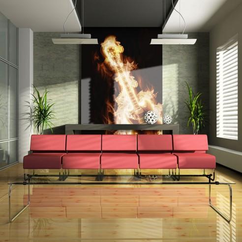 Fototapet  Flaming guitar
