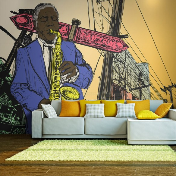 Fototapet  Saxophonist in New York