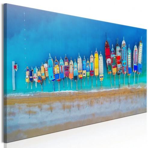 Tablou  Colourful Boats (1 Part) Narrow