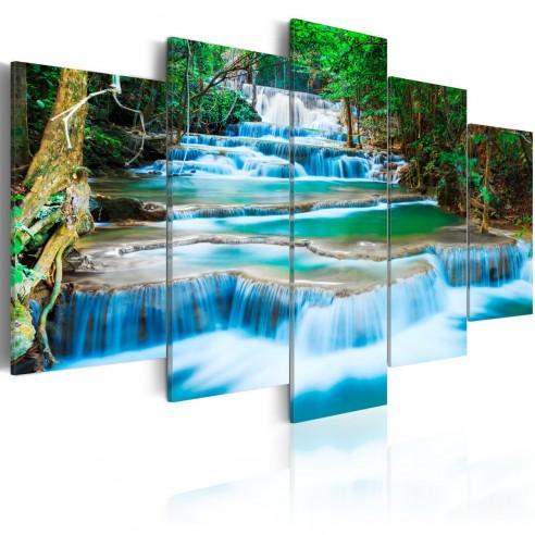 Tablou  Blue Waterfall in Kanchanaburi, Thailand