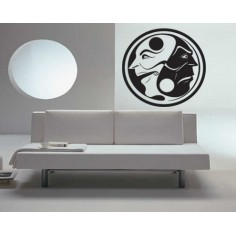 Sticker decorativ Yin & Yang