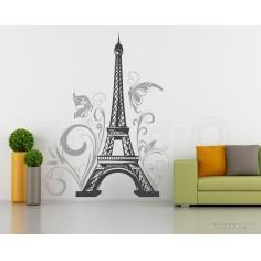 Turnul Eiffel cu flori si...