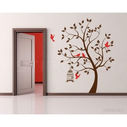 Copacelul cu pasarele - sticker...