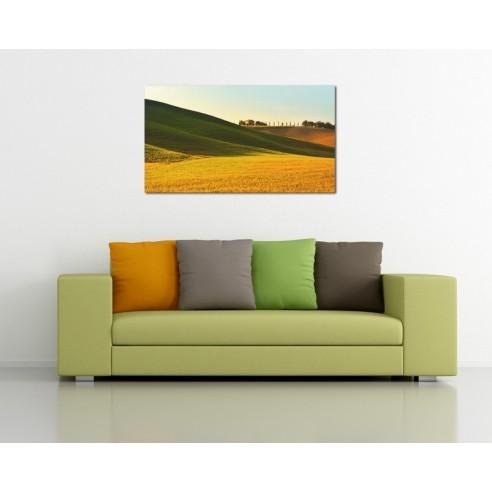 Toscana - camp insorit - tablou canvas