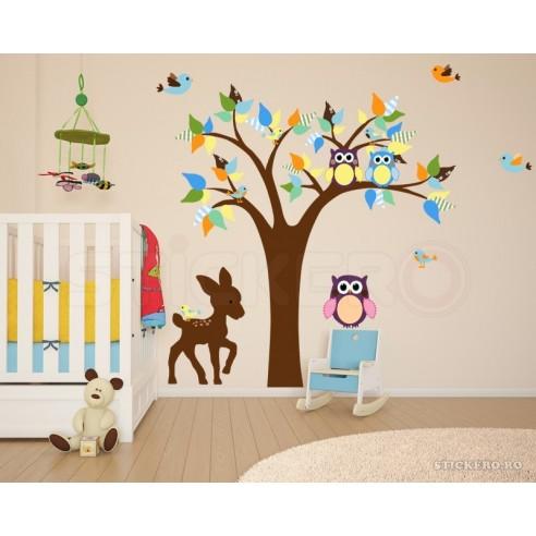Copacelul cu animalute - sticker...