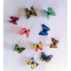 20 Fluturi 3D Multicolori
