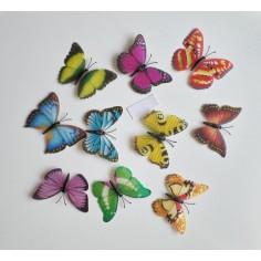 20 Fluturasi 3D Colorati