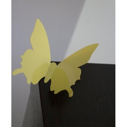 24 Fluturi 3D Galbeni