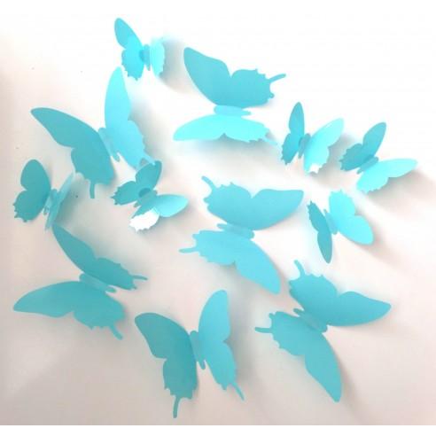 24 Fluturasi 3D Turquoise