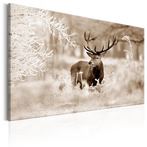 Tablou  Deer in Sepia