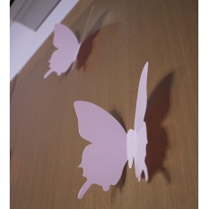 12 Fluturi 3D Roz