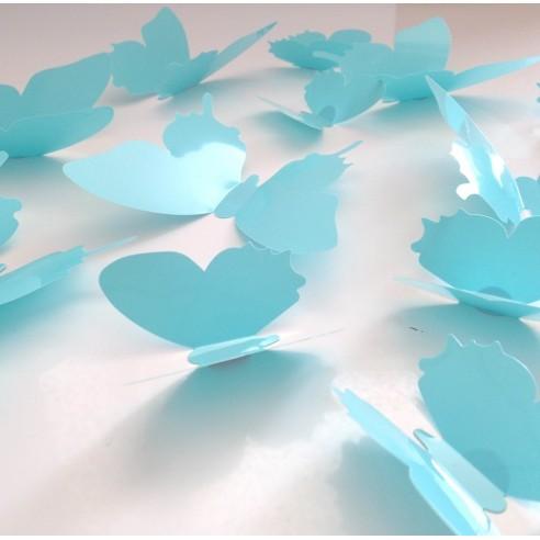 12 Fluturasi 3D Turquoise