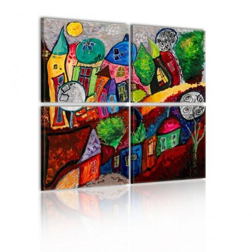 Tablou  Colourful city