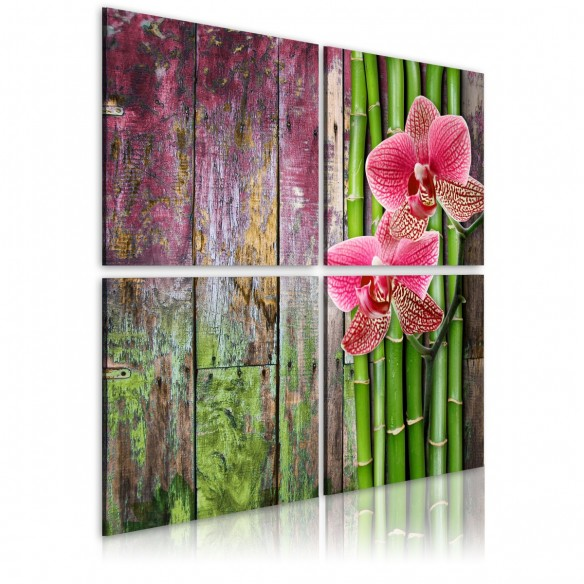 Tablou  Bamboo and orchid