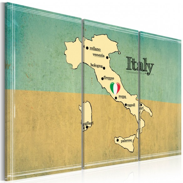Tablou  Heart of Italy  triptych