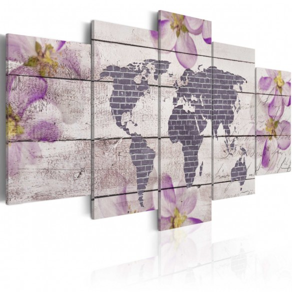 Tablou  Romantic World Map