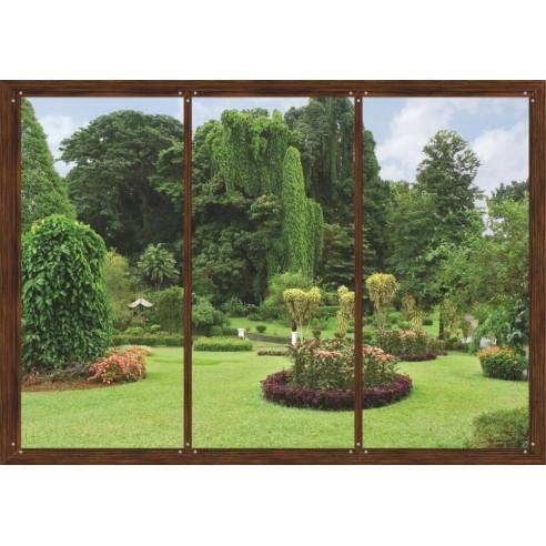 Fototapet Window in Garden