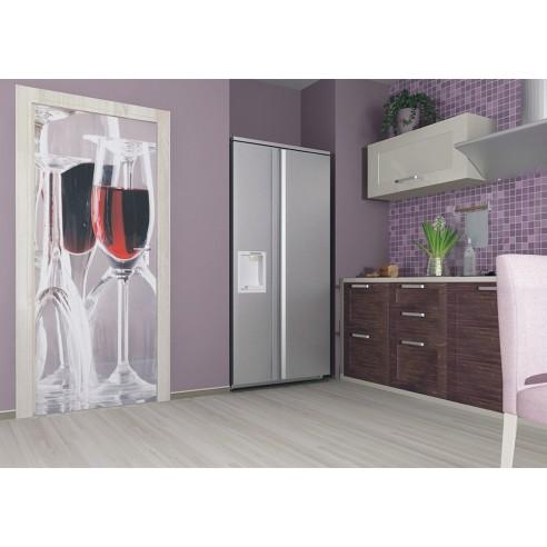 Fototapet pentru usa Pahar de vin