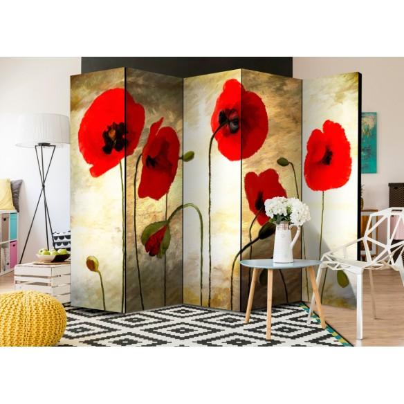 Paravan  Golden Field of Poppies II [Room Dividers]