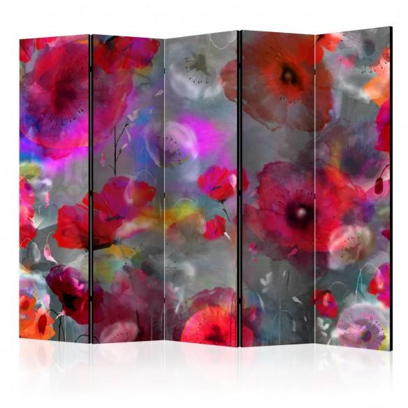 Paravan  Painted Poppies II [Room Dividers]