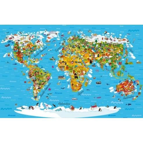 Fototapet - Harta Lumii pentru copii...
