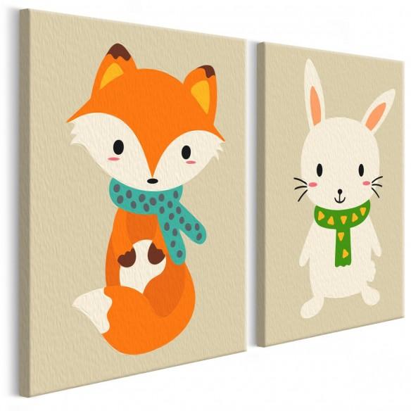 Set pictura pe numere  Fox & Bunny