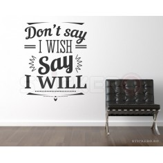 Say I will - sticker mesaj...