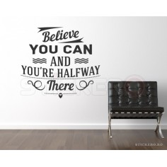 Believe you can - sticker...