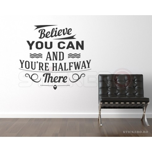 Believe you can - sticker mesaj...