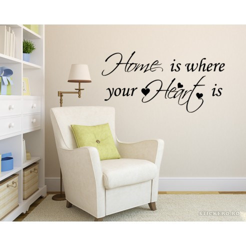 Sticker decorativ Home is your Heart,...