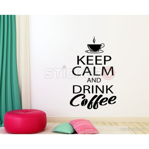 Sticker KEEP CALM and drink coffee,...