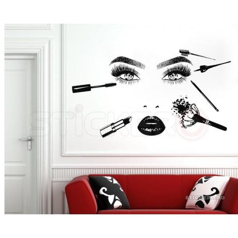 Sticker decorativ Beauty studio