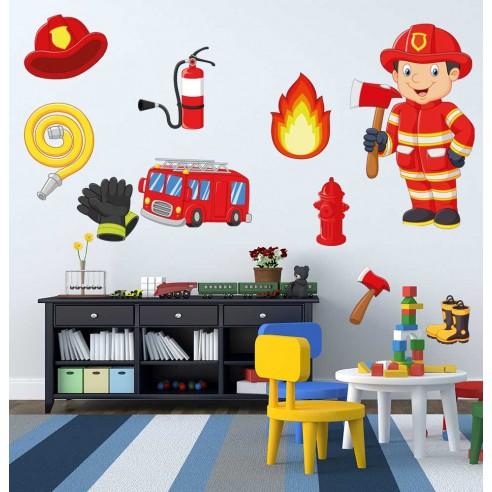 Stickere decorative cu Pompieri