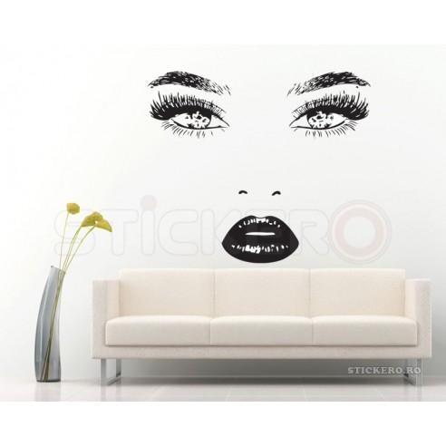 Sticker decorativ- Beauty face