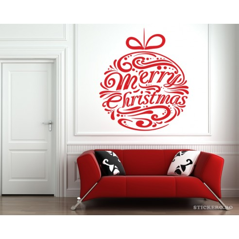 Sticker de sarbatori Merry Christmas