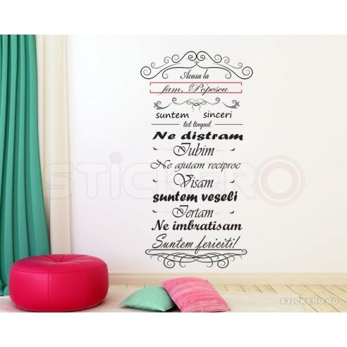 Sticker decorativ - Acasa la familia....