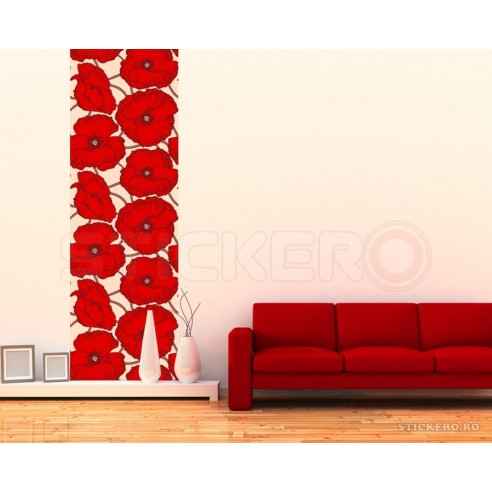 Coloana de maci - sticker decorativ...