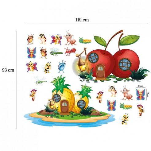 Sticker Casutele din fructe