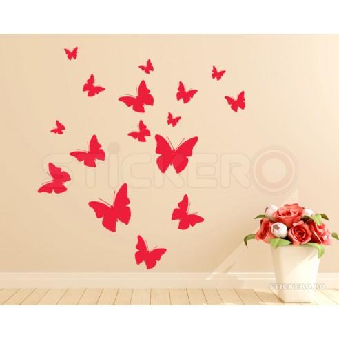 Sticker decorativ Set de fluturasi,...