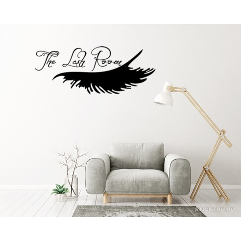 Sticker -Lash room, 120x45 cm