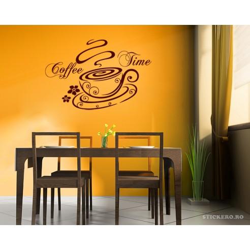 Sticker penru bucatarie Coffee time