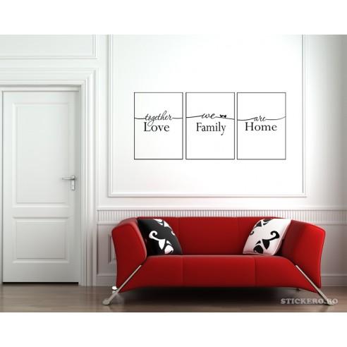 Stickere tablouri - We are family,...